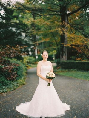 Strapless Fit-and-Flare Bridal Gown