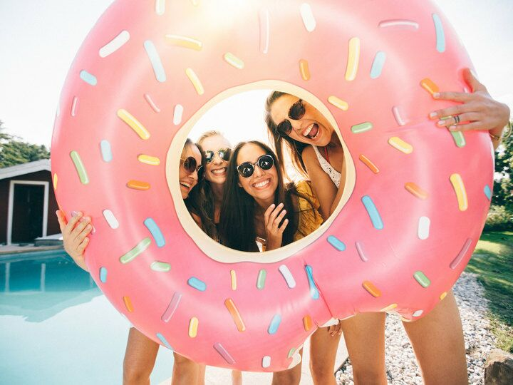 Donut float at a bachelorette party