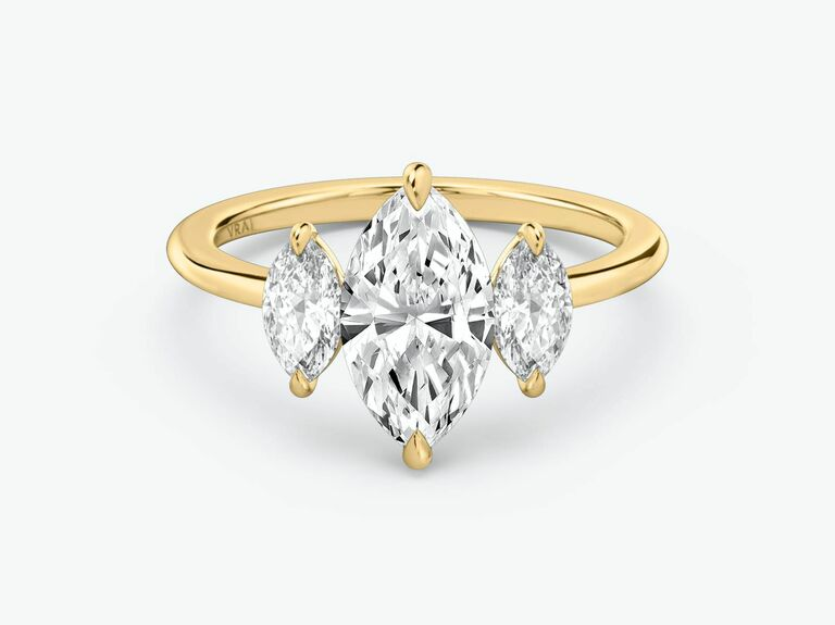 Vrai three stone engagement ring