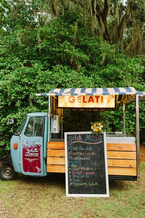 Retro Gelato Truck with Chalkboard Sign