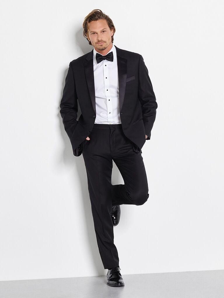  The Black Tux Notched Lapel Tuxedo