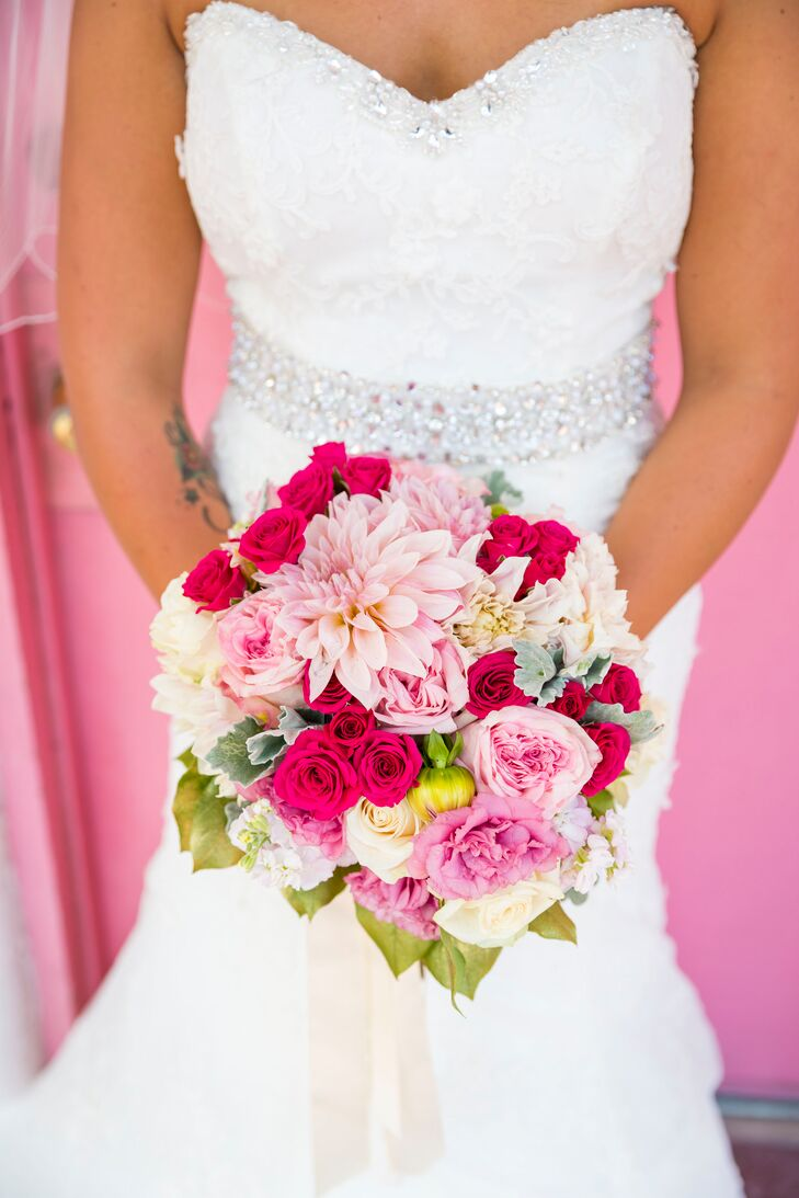 """""""The flowers were very important to me!"""" Holly says. """"My favorite flower is dahlias, the bigger the better! I also love roses."""""""