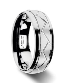 Mens Tungsten Wedding Bands W2972-DTDG Tungsten Wedding Ring