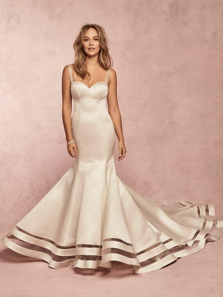 Rebecca Ingram Spring 2019 silk fit and flare wedding dress