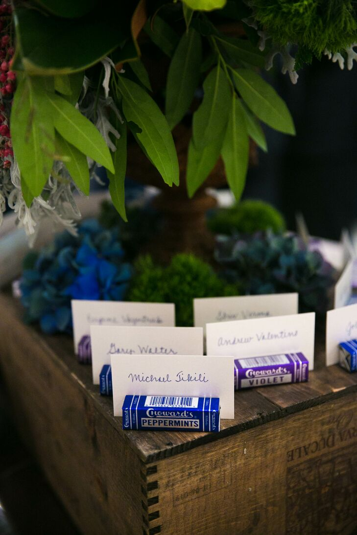 Simple, Hand-Lettered Escort Cards