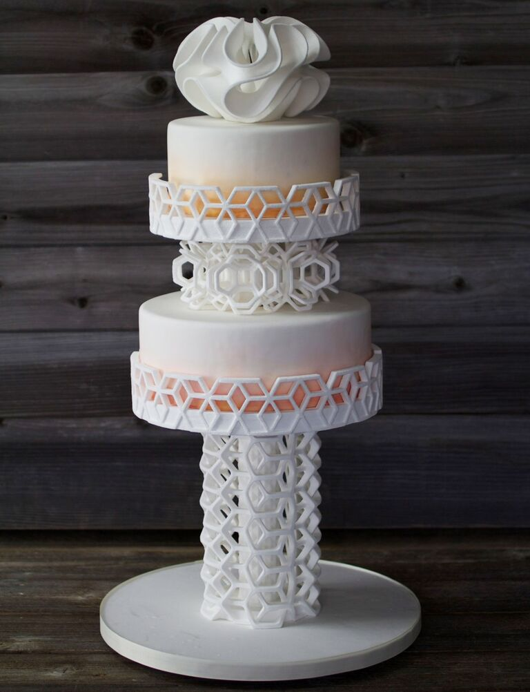 3D printed cake topper and cake stand