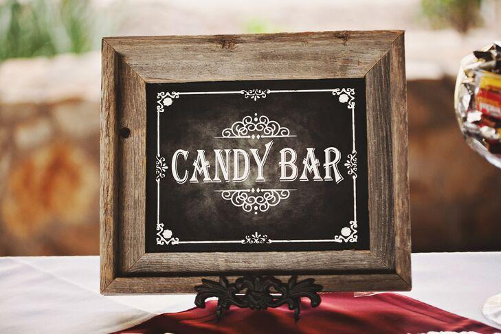Chalkboard Candy Bar Sign