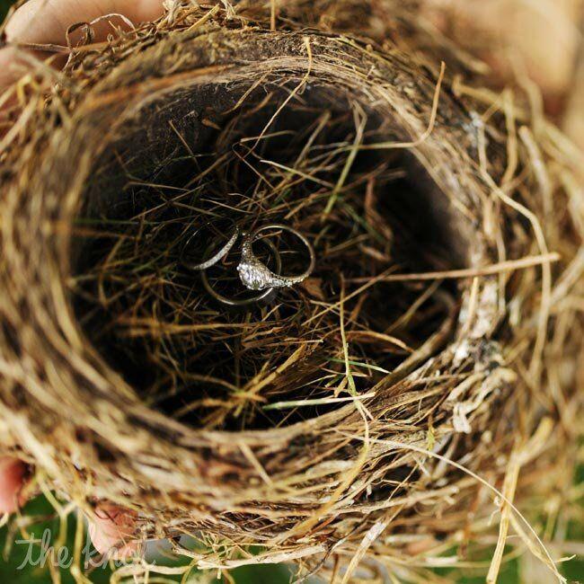 Bird's Nest Ring Pillow