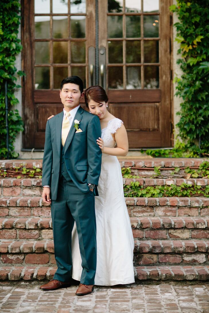 """After first meeting at work, Deborah Choi (25 and a graduate student) and Steven Kang (31 and a tech advisor) said """"I do"""" at Summerour Studio in midto"""