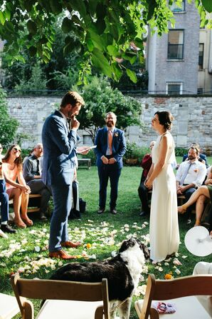 Casual Quaker-Inspired Ceremony at New York Marble Cemetery