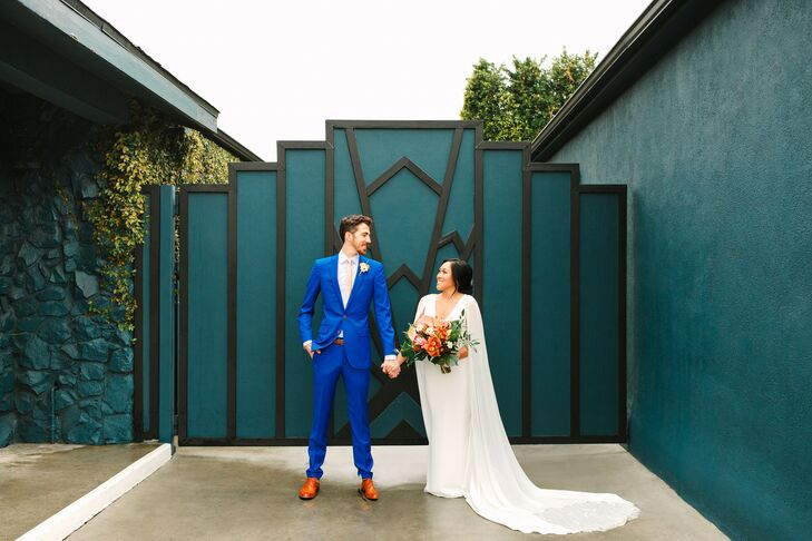 Bride and Groom at The Fig House in Los Angeles, California