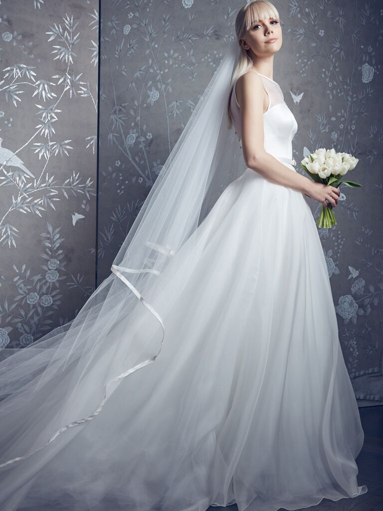 Legends by Romona Keveza Spring 2020 Bridal Collection tulle A-line wedding dress with veil