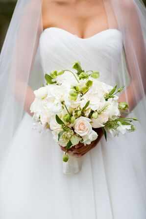 Blush Rose and Gardenia Bouquet