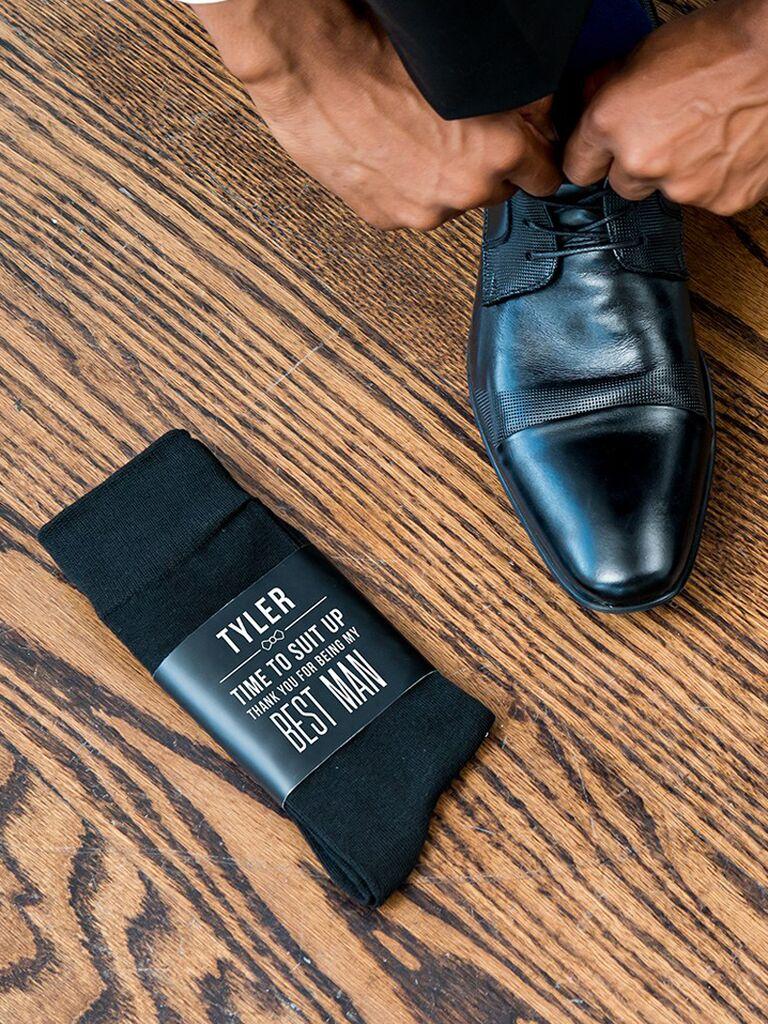 Personalized groom or groomsmen socks