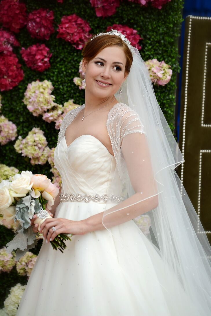 Matthew Christopher Gown with Sweetheart Neckline