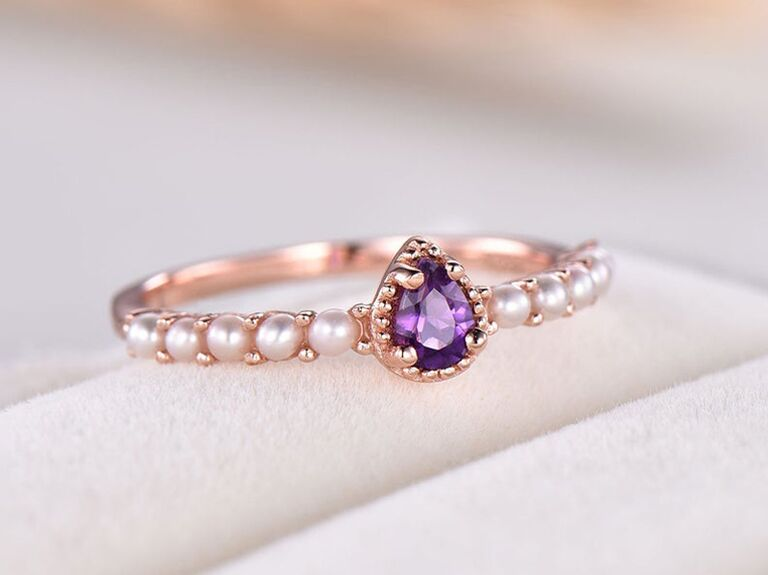 lavish amethyst engagement ring