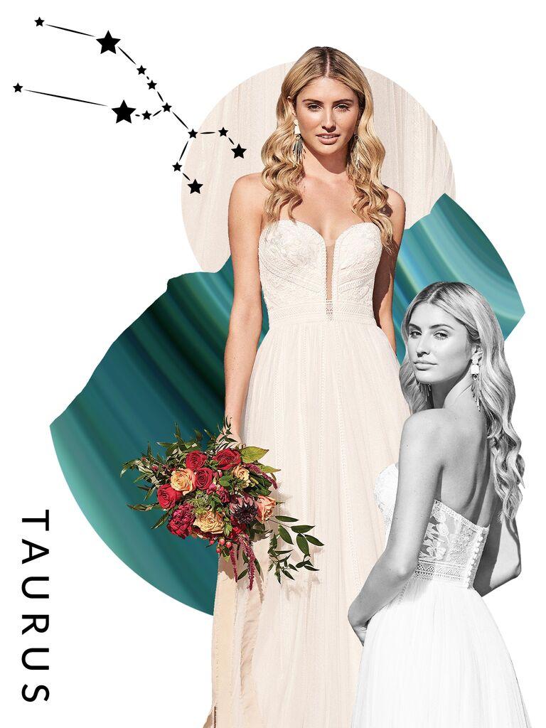 Taurus wedding dress