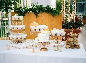 Dessert Table with Cupcakes, Cake and Cookies