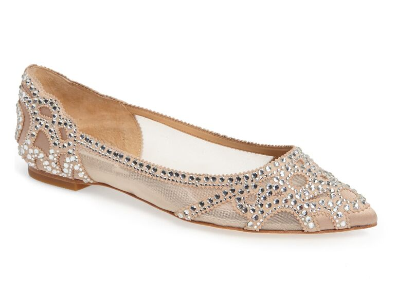 Bedazzled comfortable wedding flats