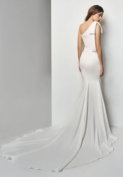 One Shoulder Wedding Dresses The Knot