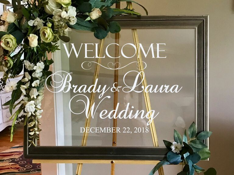 Decal wedding welcome sign