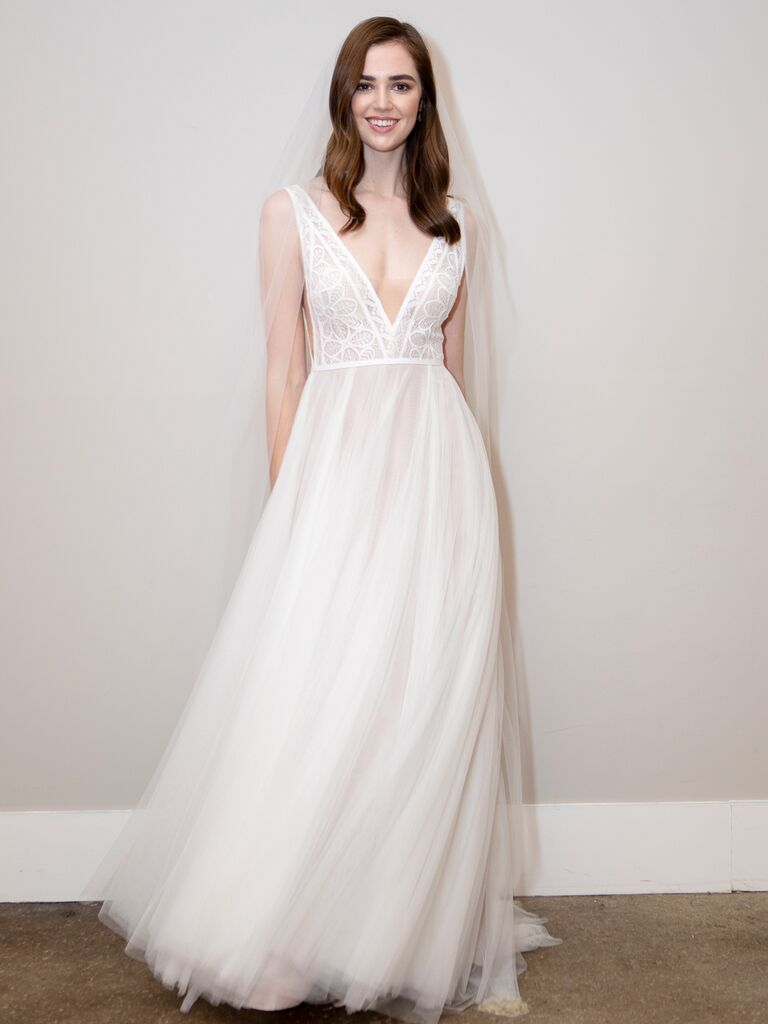 BHLDN Spring 2020 Bridal Collection V-neck A-line wedding dress