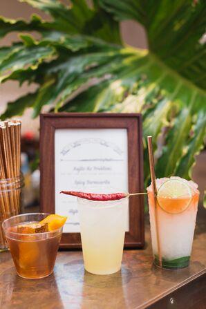 Tropical Signature Cocktails at Bar