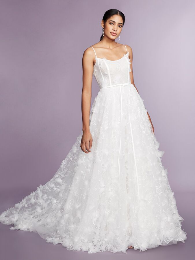 Marchesa Notte sleeveless embroidered ball gown