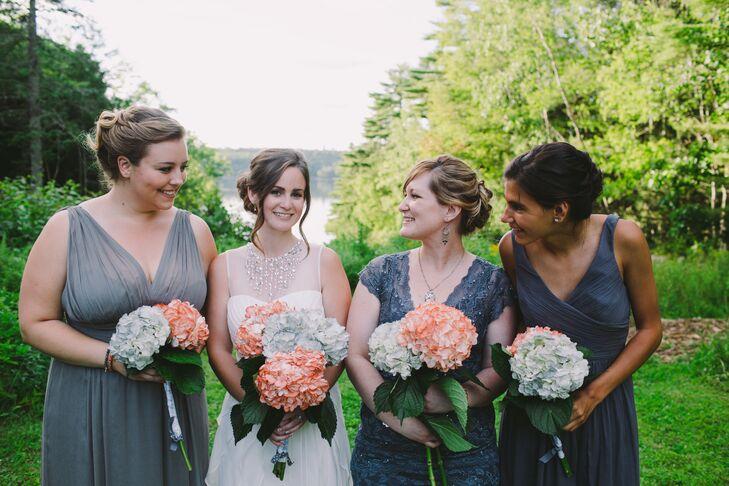 Blue J.Crew Bridesmaid Dresses