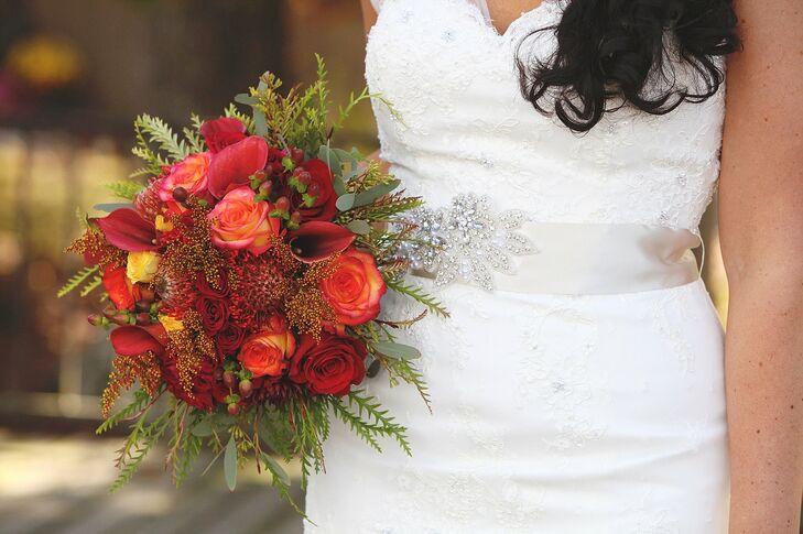 Seasonal Fall Red Bridal Bouquet
