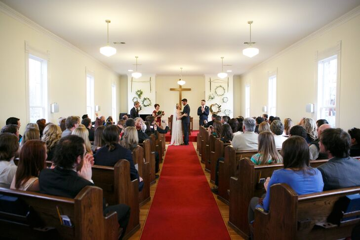 """Faith's favorite moment of the day? """"One of the special moments was my dad walking me down the aisle and then marrying Jackson and me,"""" Faith says."""
