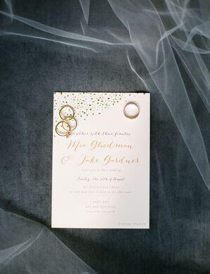 Whimsical Gold-Foil Wedding Invitations
