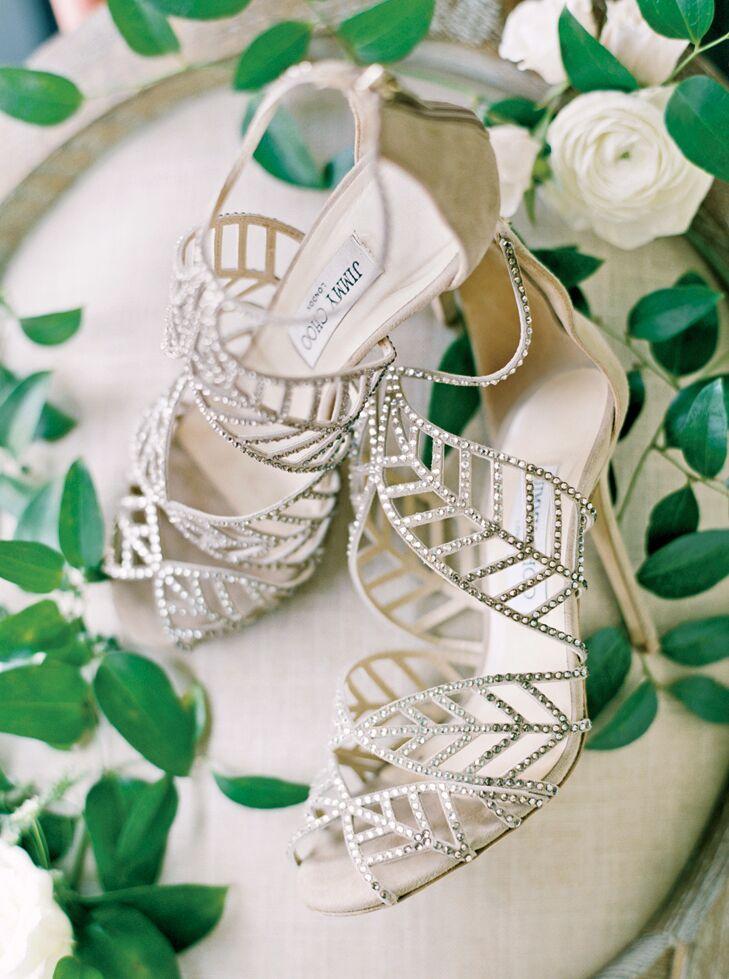 Jimmy Choo bridal pumps
