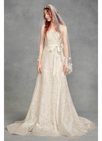 white by vera wang veil