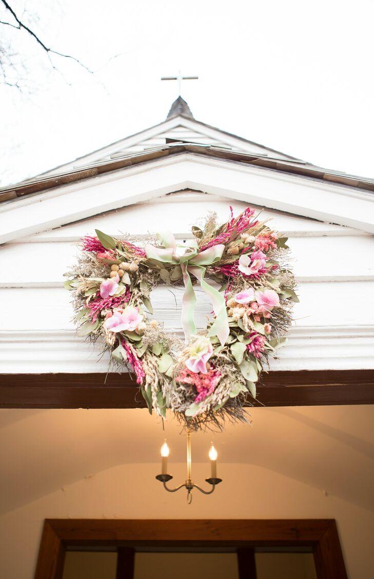 Heart Wreath Church Decor
