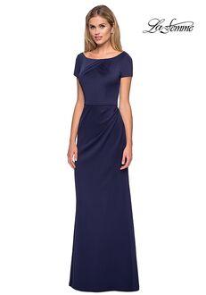 La Femme Evening 27067 Blue Mother Of The Bride Dress