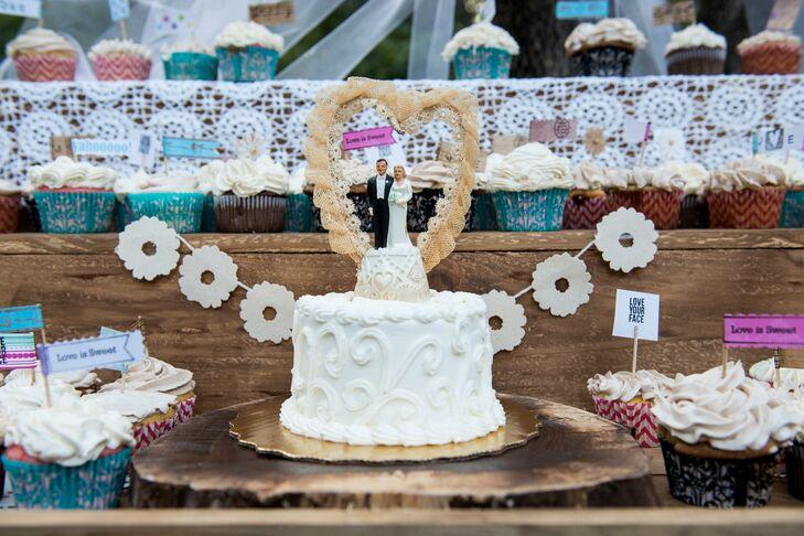 Vintage Wedding Cake Topper