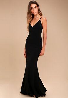 Lulus Infinite Glory Black Maxi Dress V-Neck Bridesmaid Dress
