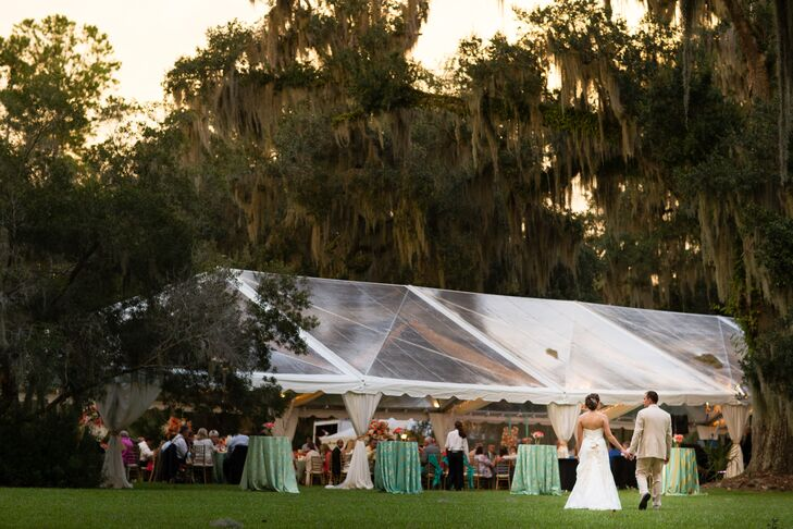 A Clear Tented Wedding Reception at Rose Hill Mansion