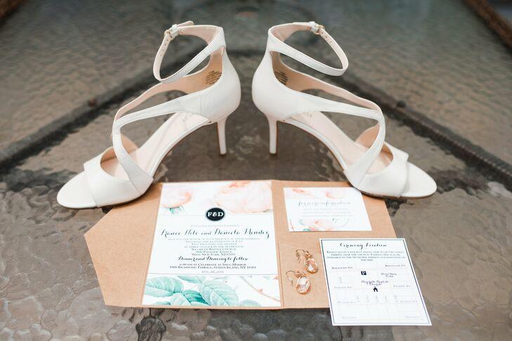 White Strappy Bridal Shoes