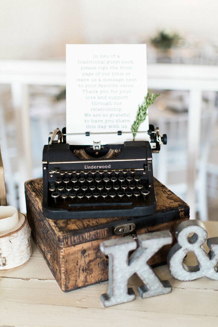 Vintage Typewriter Guest Book Sign