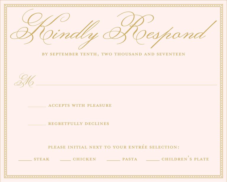 Wedding rsvp wording example