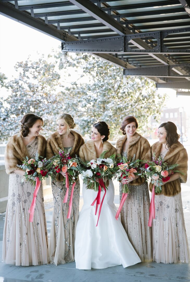 Vintage Faux Fur Bridesmaid Coverups