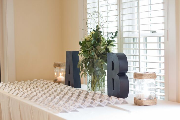 Initialed Escort Card Display