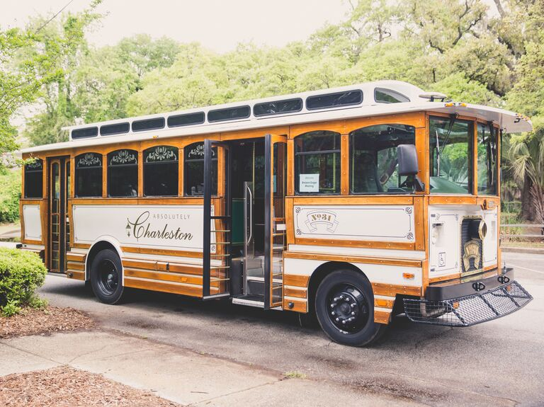 Charleston wedding trolley transportation
