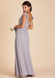 Birdy Grey Kae Bridesmaid Dress in Silver V-Neck Bridesmaid Dress