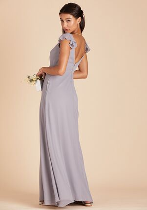 Birdy Grey Kae Dress in Silver V-Neck Bridesmaid Dress