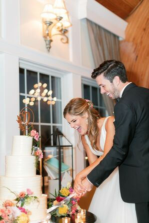 Traditional Cake Cutting at Bonnet Island Estate in Manahawkin, New Jersey