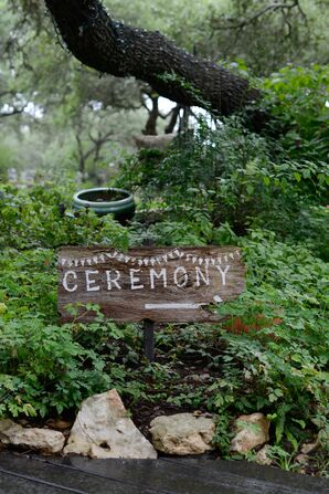 Rustic Wooden 'Ceremony' Sign