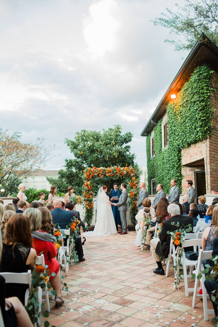 """Alison's sister and cousin teamed up with the Hit-N-Run Band to perform Christina Perri's """"One Thousand Years"""" as Alison entered the ceremony. She and Pierce recessed to an instrumental version of the Temptations' """"My Girl."""""""